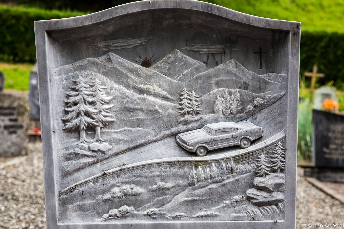 Альпийские надгробия.