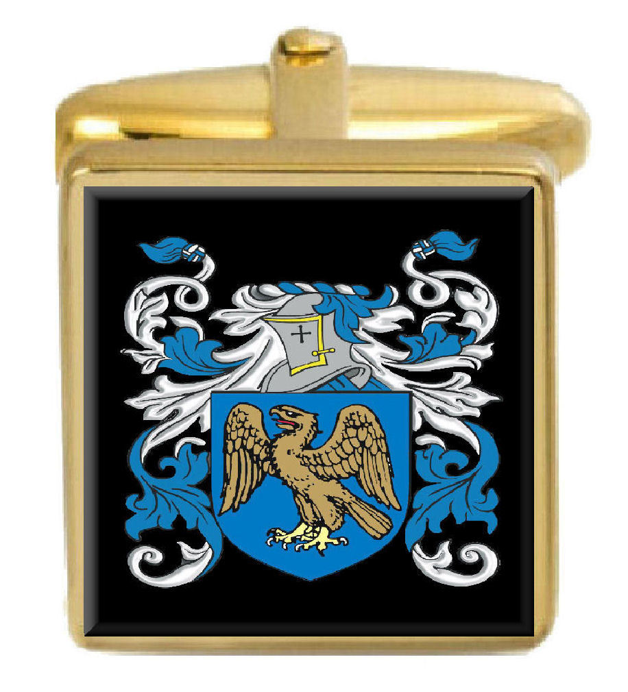 Select Gifts Butter Scotland Family Crest Surname Coat Of Arms Gold Cufflinks Engraved Box