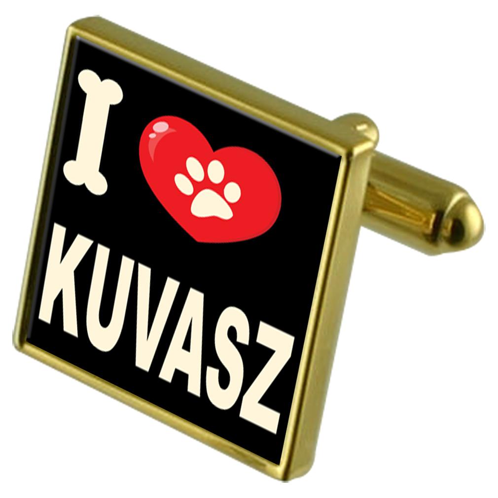 Amo il mio cane oro-Tone oro-Tone oro-Tone Gemelli & Soldi Clip-KUVASZ 89e0dc