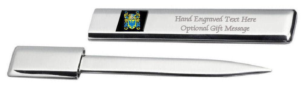 Ghana Coat of Arms Chrome Letter Opener