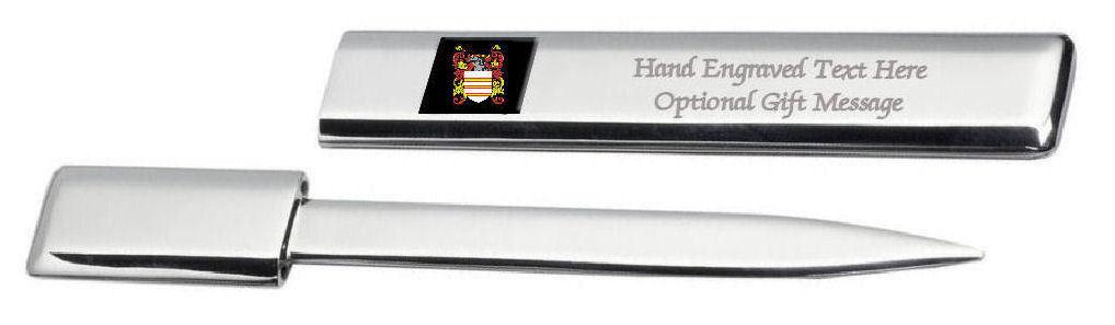 Annett Family Crest Surname Coat Of Arms Heraldry Engraved Letter Opener YNXF5xUy-09173236-248152520