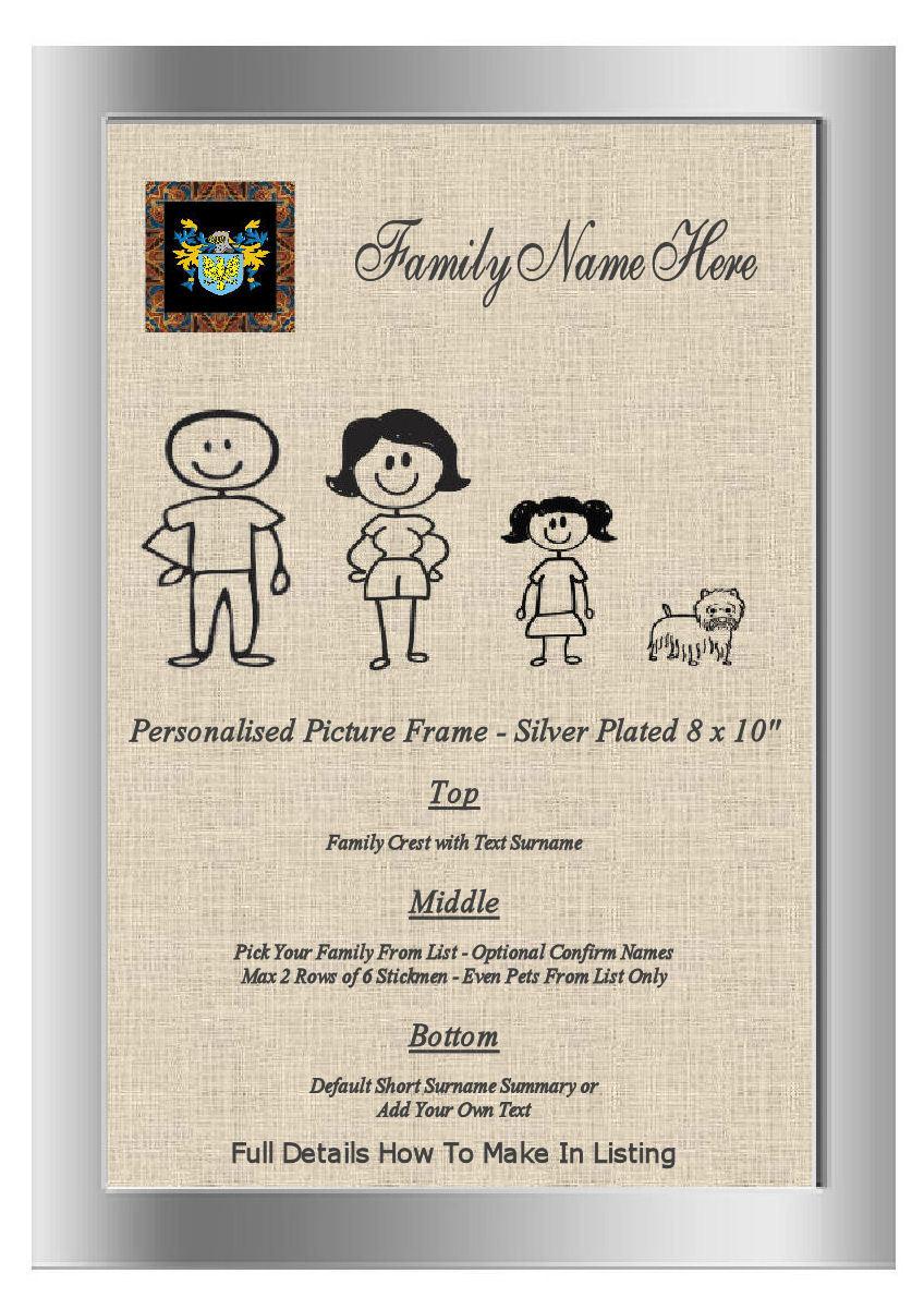 Argent Cadre Photo Famille Word Art Nancarrow England Family Family Family Crest nom | Attrayant Et Durable  e1e415