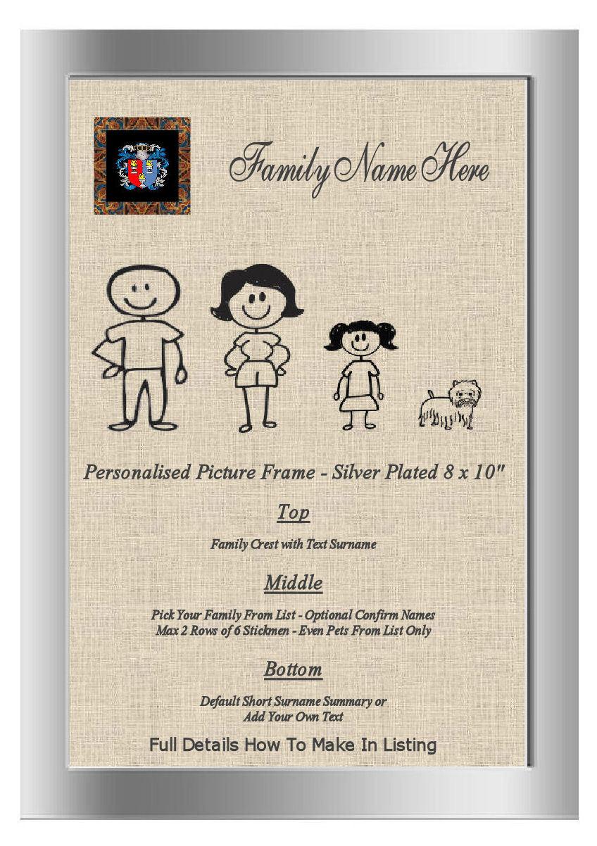 Plaqué Argent Cadre Cadre Cadre Photo Famille Word Art Bowles England Family Crest nom | à Bas Prix  b6e006