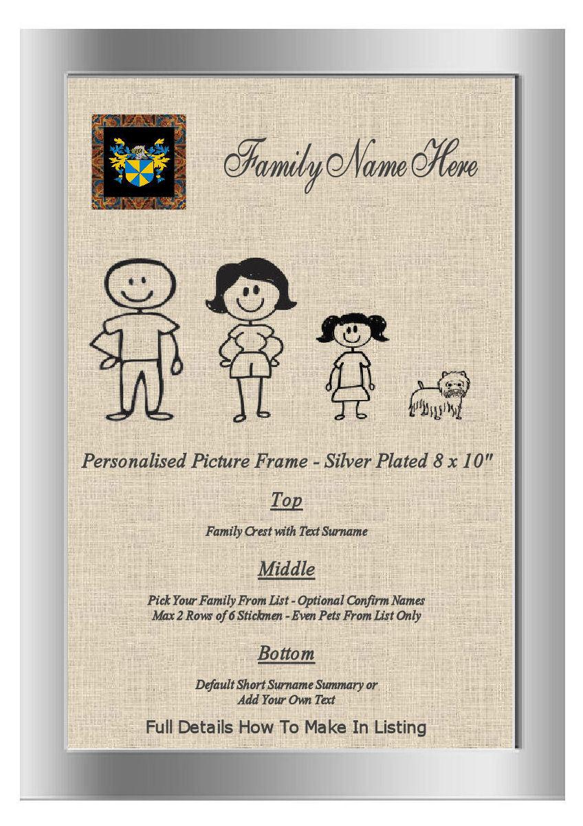 Plaqué Plaqué Plaqué Argent Cadre Photo Famille Word Art Millet England Family Crest nom | De Haute Sécurité  1501b0