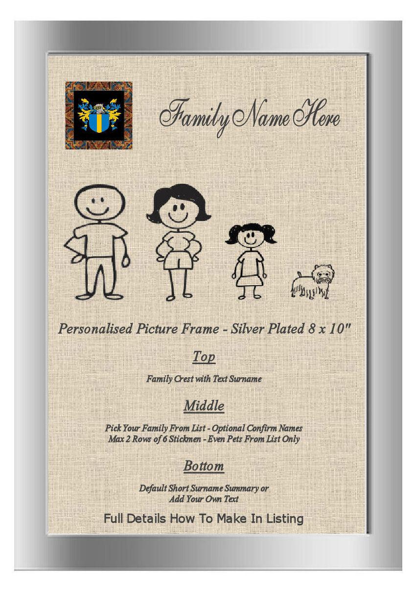 Argent Cadre Photo o'moran Famille Word Art o'moran Photo Ireland Family Crest nom c4549f
