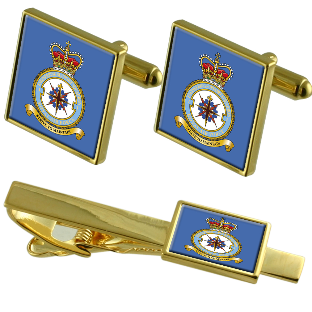 Matching Tie Cufflinks Royal Bar Air Set Badge Gold Force qfvnBZx0O