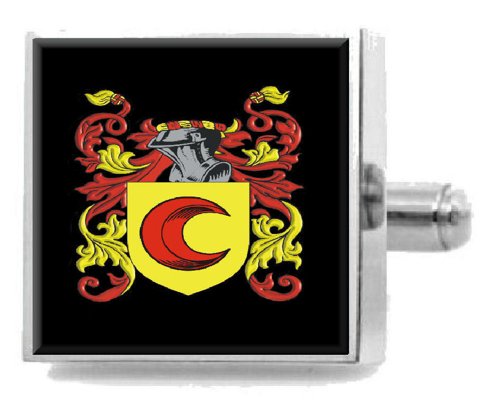 Select Gifts Sysum England Family Crest Surname Coat Of Arms Cufflinks Personalised Case