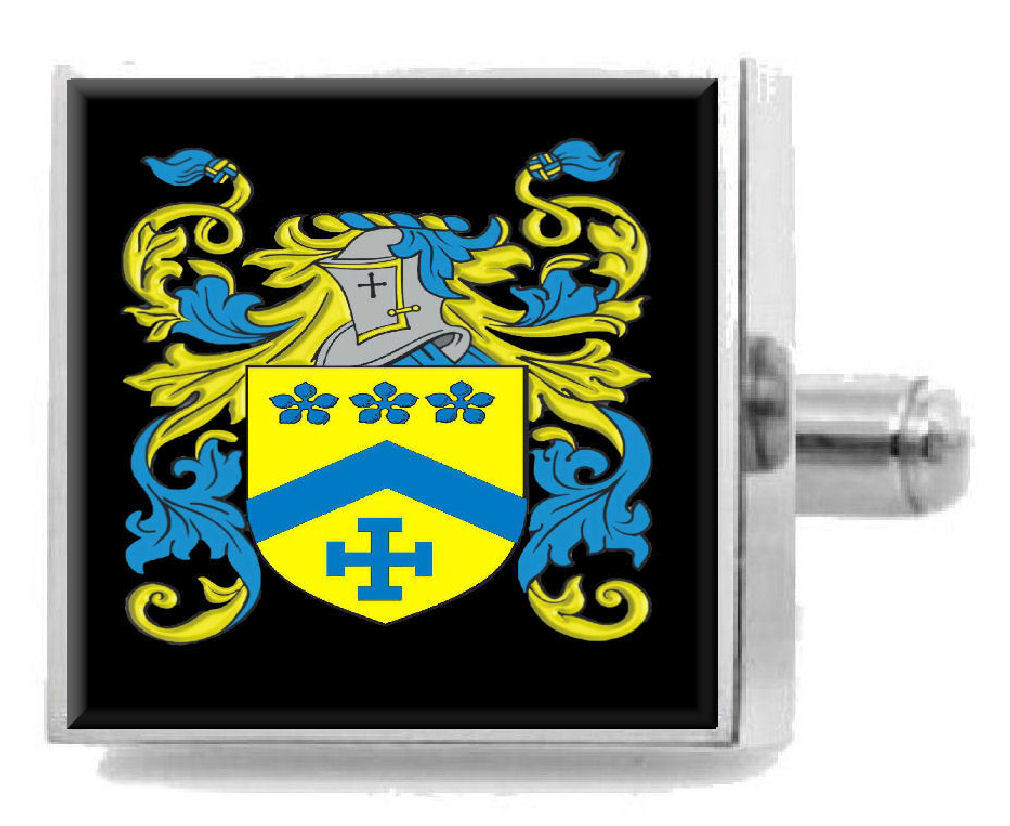 Select Gifts Molloy Ireland Family Crest Surname Coat Of Arms Gold Cufflinks Engraved Box