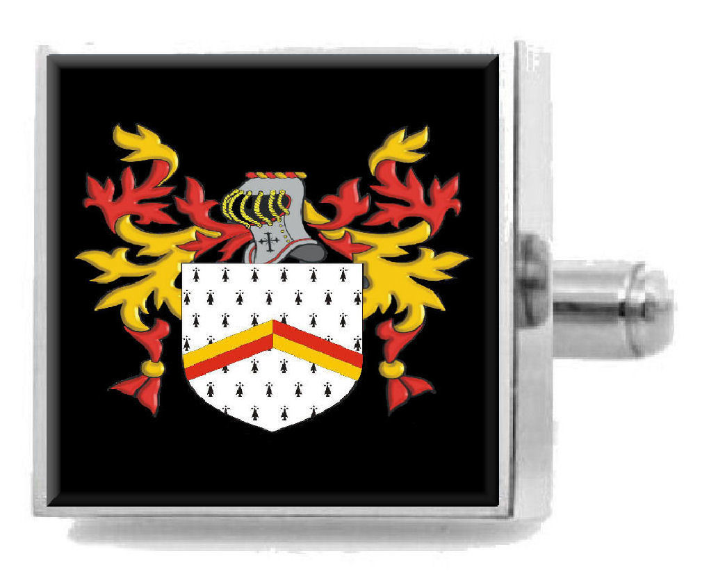 Select Gifts Nibloe Scotland Family Crest Surname Coat Of Arms Gold Cufflinks Engraved Box